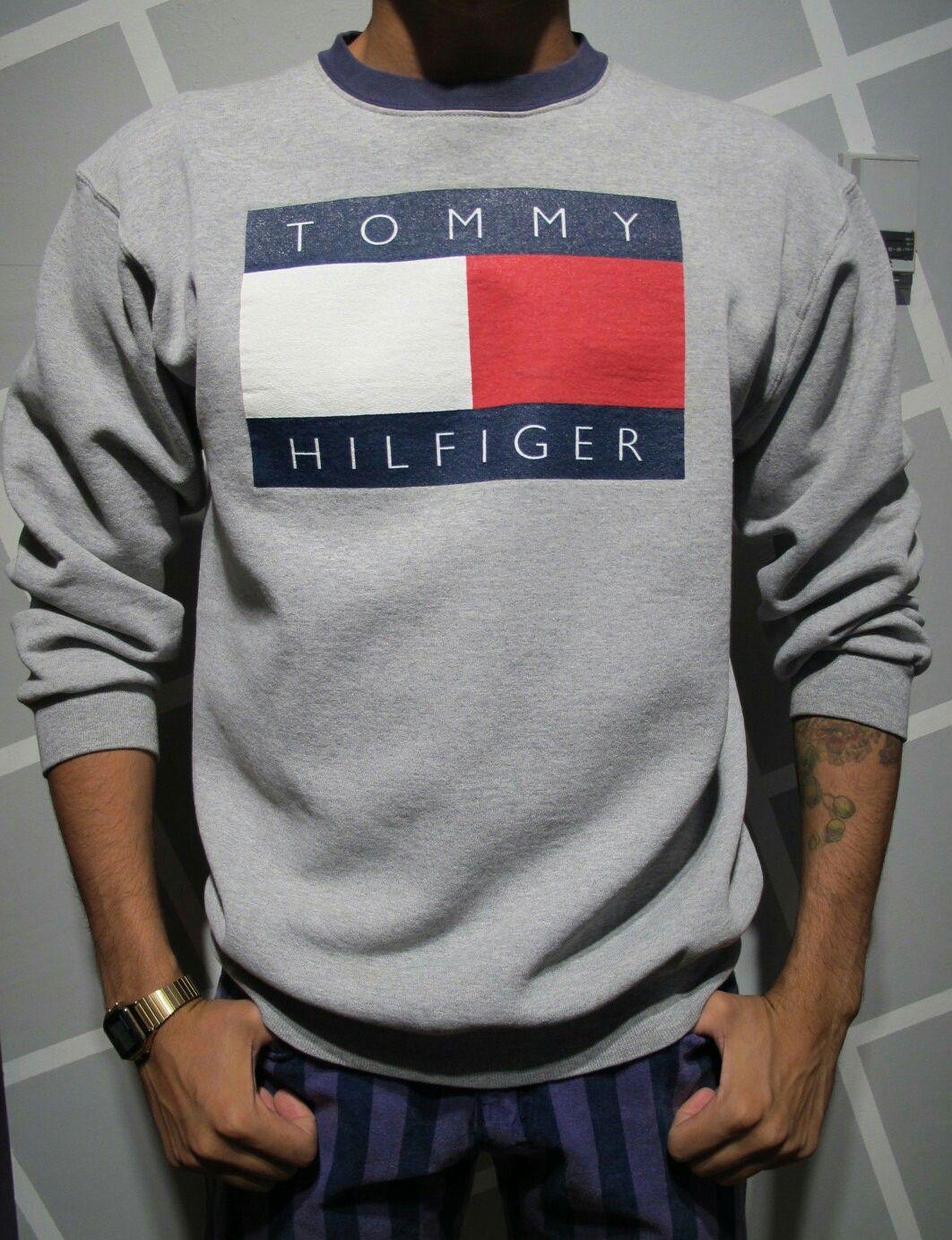 Tommy Hilfiger Tommy Hilfiger Tommy Hilfiger Crewneck Mens Sweatshirts Hoodie [ 1383 x 1062 Pixel ]