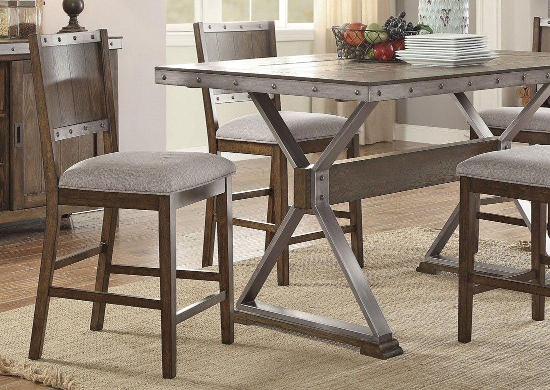 Doran Industrial Style Counter Height Chair Counter Height Table