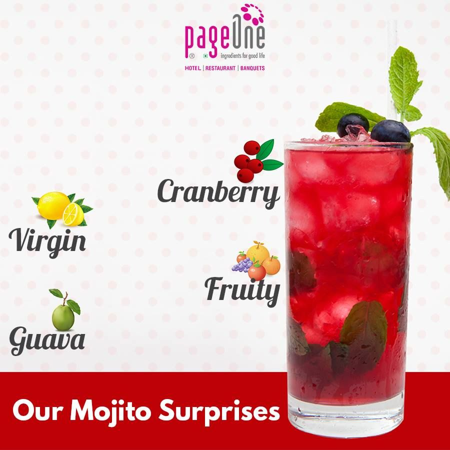 Get Ready For Some Delicious Fruity Surprises Pageone Finedining Multicuisine Restaurant Mocktails Mojito Worldcuisine Mojito Fruity World Cuisine
