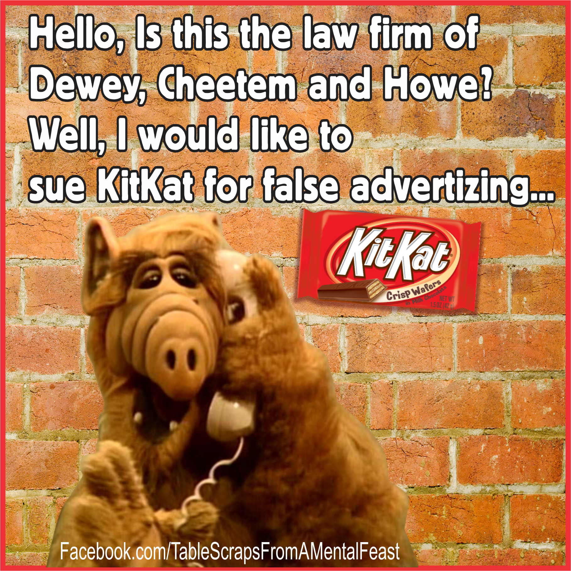 Alf Quotes If You Grew Up In The 80's.you'll Get Italf 80S Kitkat