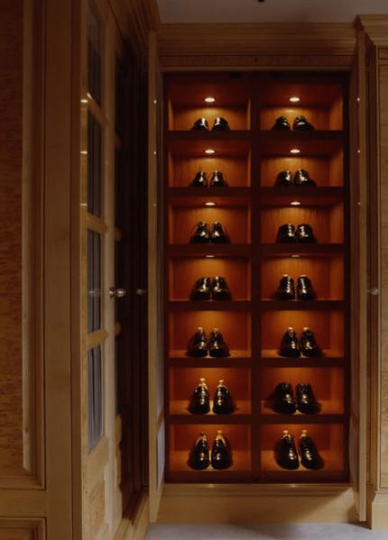 Handsome Menu0027s Shoe Closet. Great Use Of Hermes Orange In The Alcoves, Via  The Pursuit Aesthetic Tumblr.