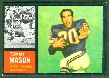 #74 Tommy Mason     rookie card - 1962 Topps #94 - Career Terry Kirby, Tom Matte, Darrin Nelson, Dexter Bussey, Matt Snell,