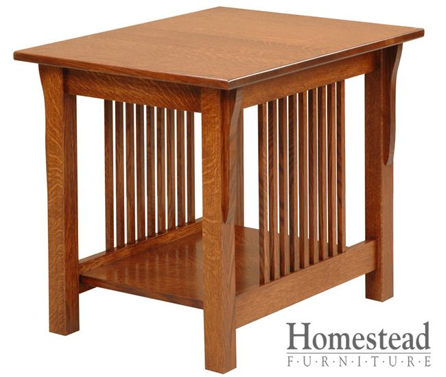 Lakota Lamp Table, making it a perfect fit for the craftsman mission style.  Quarter sawn oak is an obvious choice for this chest of drawers, but additional woods and finishes are available to suit your tastes. Pair it with other Mission pieces to complete your craftsman mission room design. http://homesteadfurnitureonline.com/occasionals_lakota-lamp-table.html