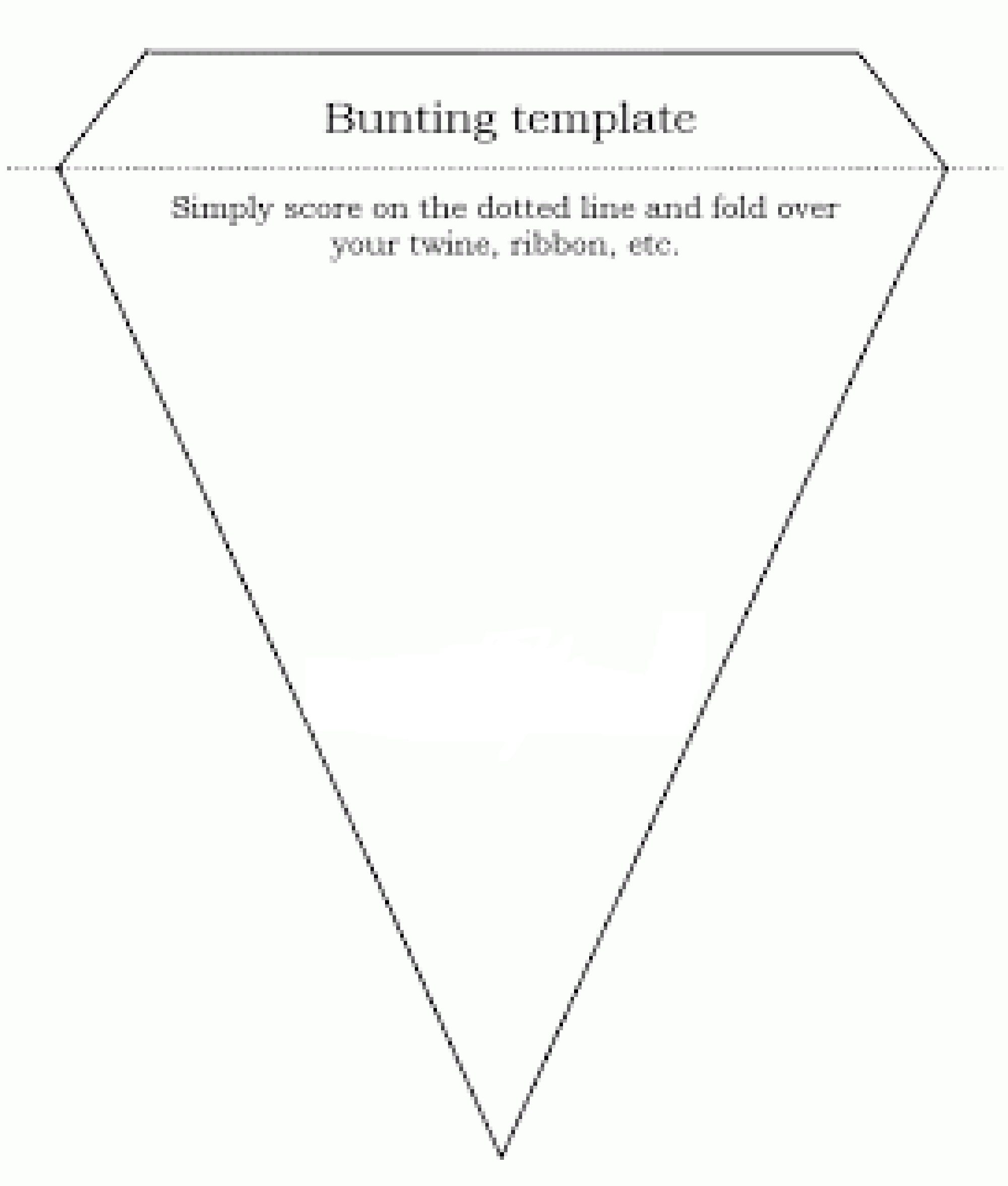 How to make quick & easy bunting