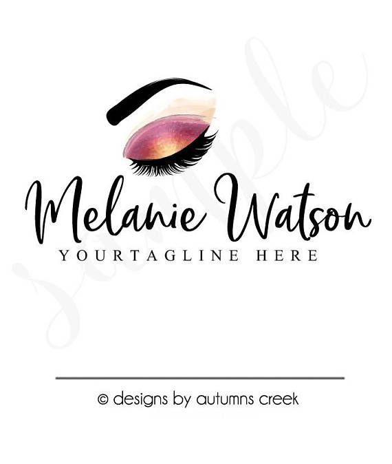 Premade Logo Eyebrow Eyelash Makeup Make