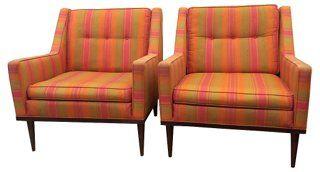 Milo Baughman    Chairs, Pair