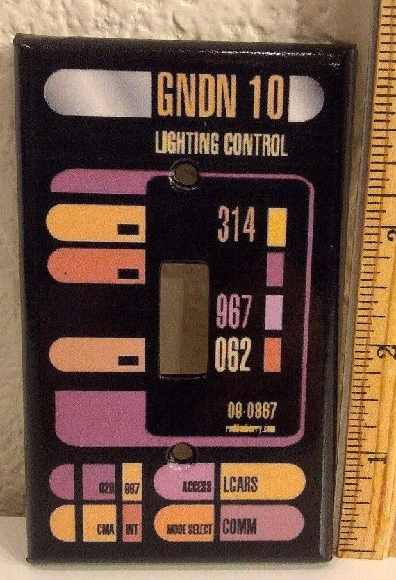 Star Trek LCARS Sci-Fi Control Panel Light Switch Covers Home Decor Outlet