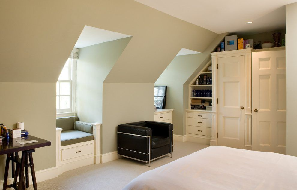 Contemporary Dormer Windows Bedroom Traditional With