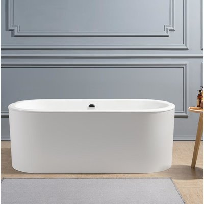 Streamline Bath Cast Iron 67 X 30 Freestanding Soaking Bathtub