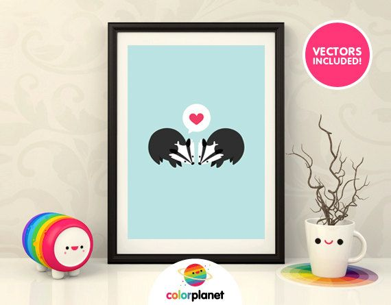 Badger Clipart Digital print personal & commercial by ColorPlanet
