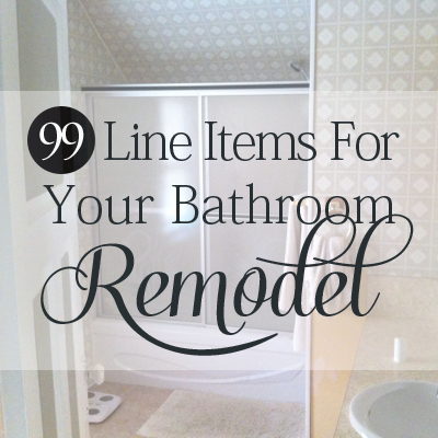 Bathroom remodeling budget checklist with a downloadable spreadsheet ...