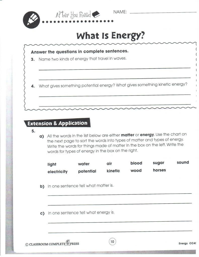 25 Introduction to Energy Worksheet Answer Key SiInc.com ...