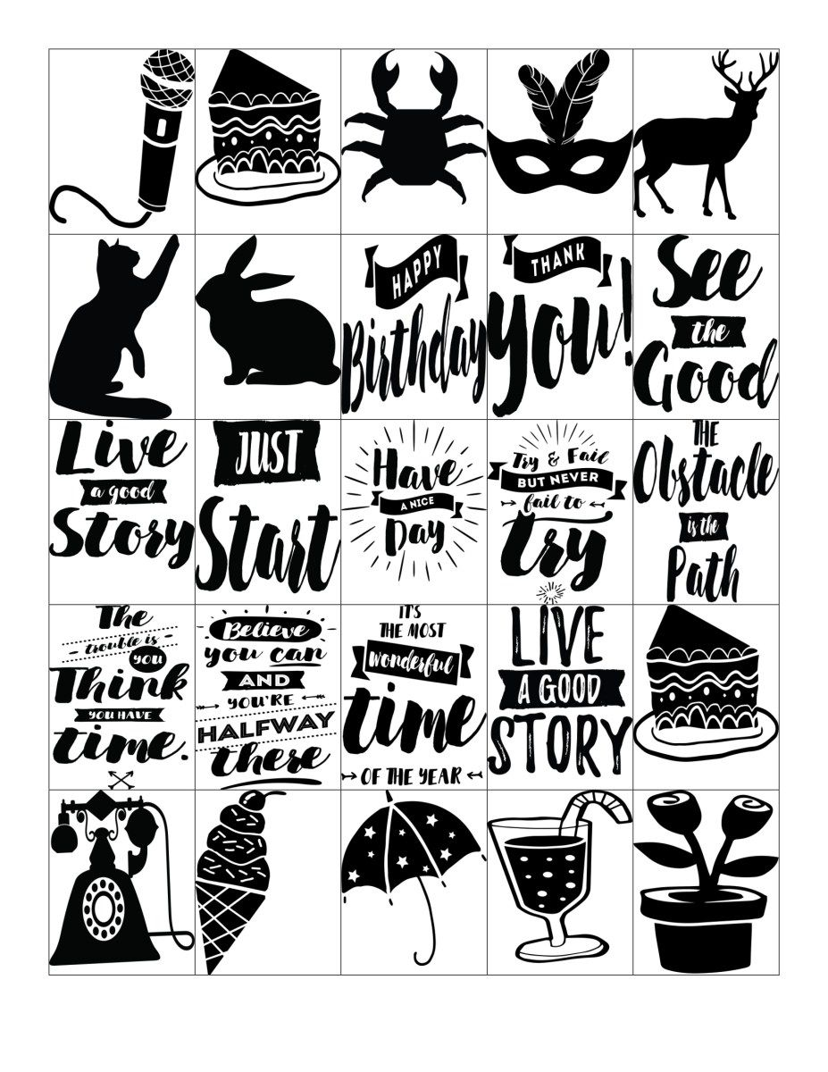 image regarding Printable Stickers Sheets known as Free of charge Printable-Get hold of Motivated Estimate Black and White Planner