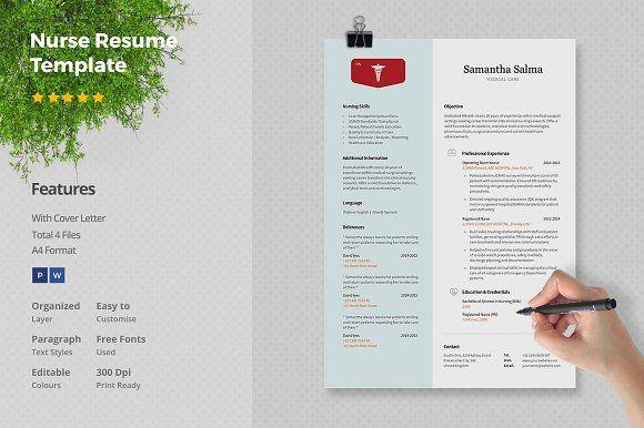 Nurse Resume Template by Papernoon on @mywpthemes_xyz Best Resume