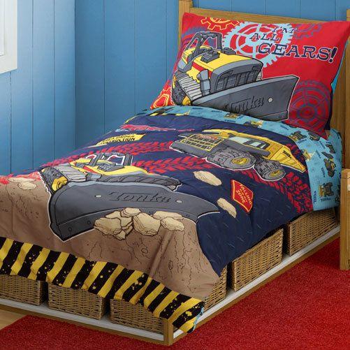 4pc Tonka Trucks Construction Toddler Bedding Set