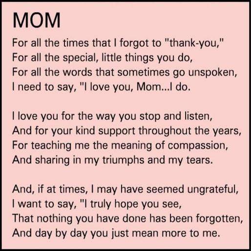My momma ❤ I never let her know enough!! | quotes | Pinterest ...