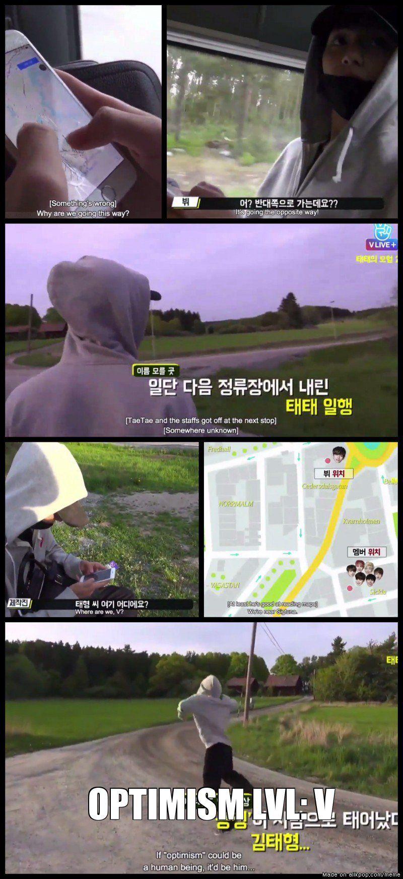 1) BTS Bon voyage ep4 - V got lost {Hahahaha <3} | Heungtan