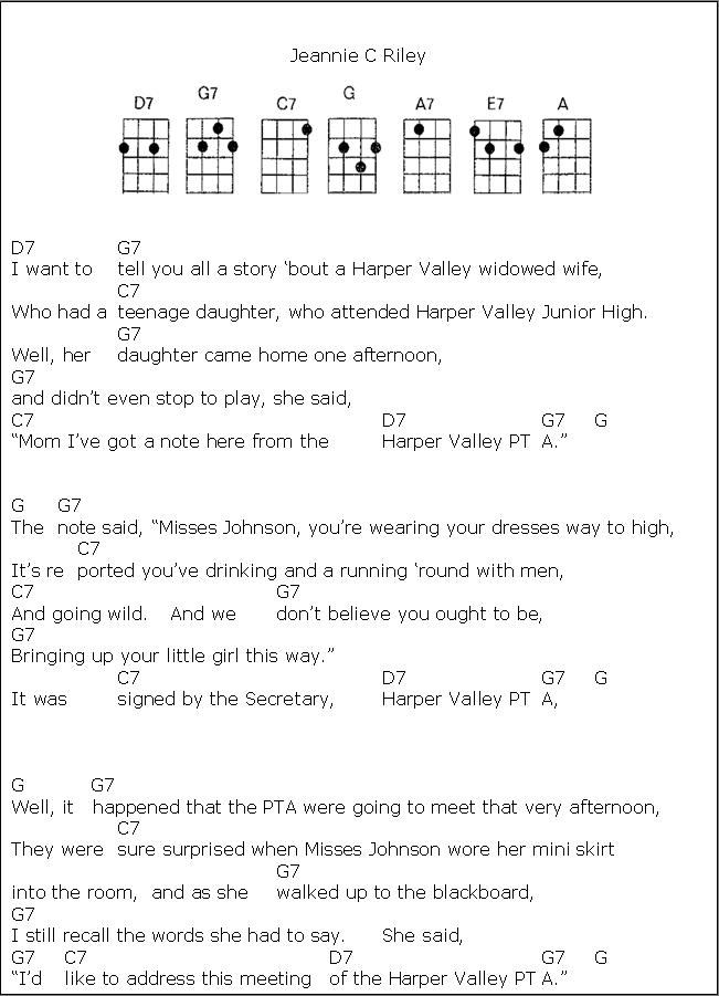 Lyric simon and garfunkel america lyrics : Harper Valley PTA.1 | Ukulele Stuff | Pinterest | Pta, Songs and ...