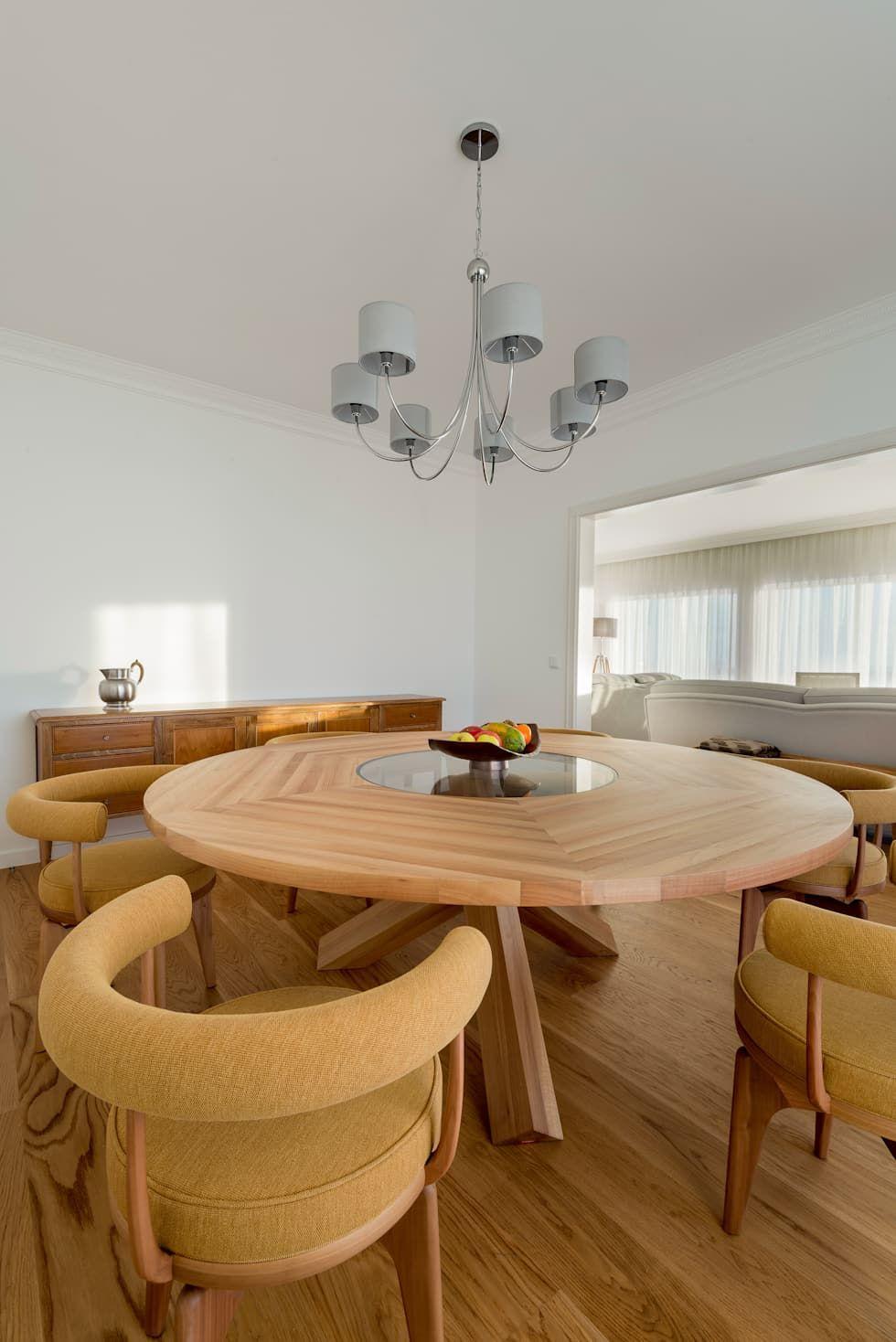 Stoc casa interiores sala da pranzo moderna legno marrone ...
