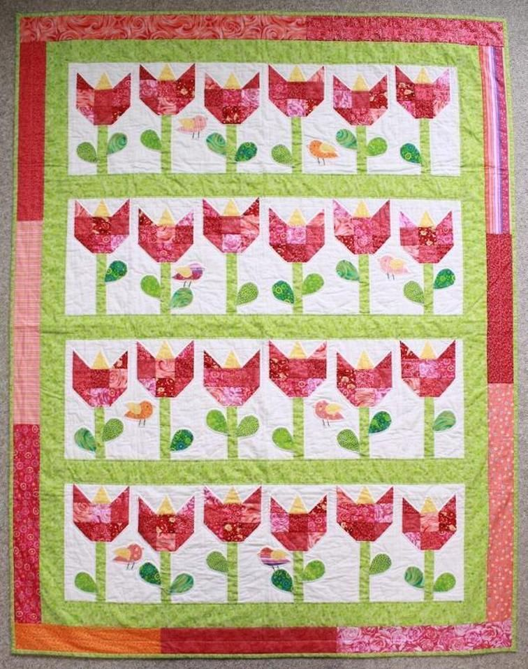 Tulip Quilt by Allspice Abounds | Craftsy | Pictorial Quilts ... : tulip quilts - Adamdwight.com