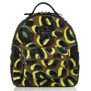 Versace - RUNWAY TIGER EYES SEQUIN-EMBELLISHED PALAZZO BACKPACK  - Elite Store