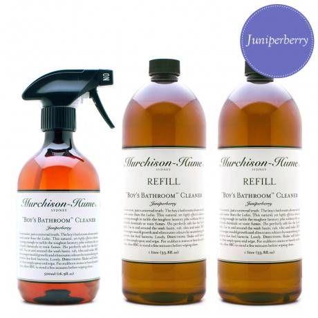 Juniperberry Boys Bathroom Cleaner with 2 Refills  Natural Bathroom cleaner
