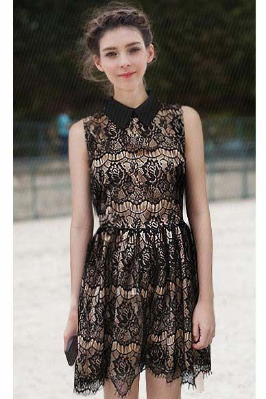 black lace dress <3