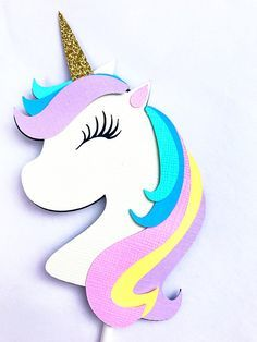 Unicorn Cup Cake Toppersunicorn Birthday Decorations Unicorn Cake
