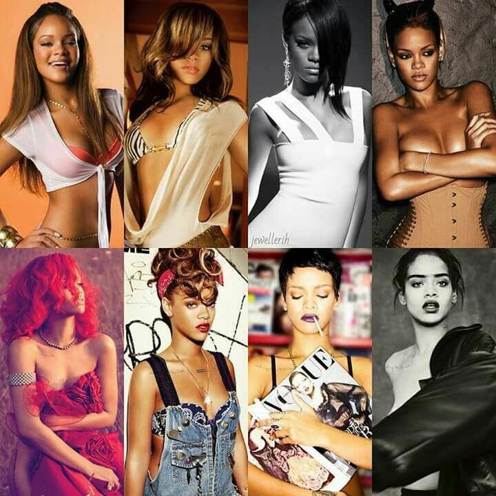 Rihanna collage