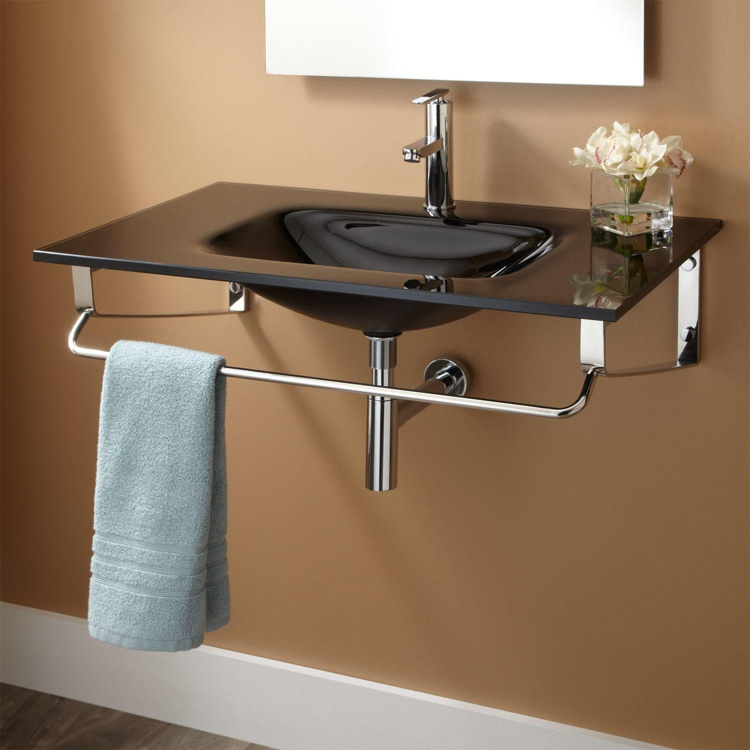 Captivating Yesler Wall Mount Glass Sink
