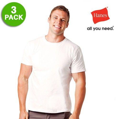 1fc8efb9adba 3 Pack: Hanes Men's 100% Cotton ComfortSoft Tagless T-Shirts | good ...