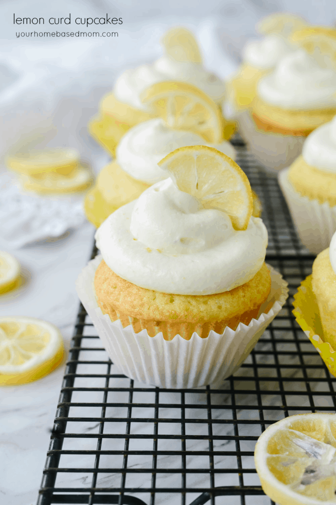 Lemon Curd Cupcakes with Lemon Cream Cheese Frosting A lovely lemon curd filled cupcake topped with a cream cheese lemon curd frosting is the perfect treat for lemon lovers!
