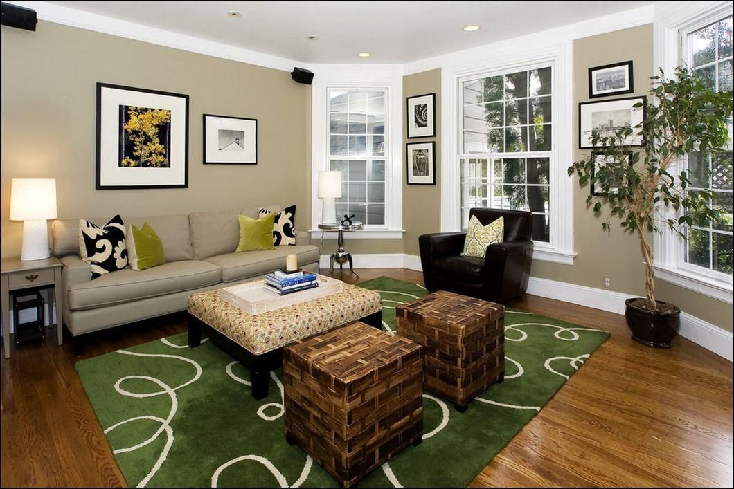 family room color brown furniture blue accent | living room
