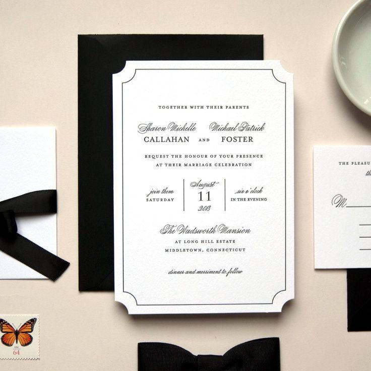 south african traditional wedding invitations samples%0A Caroline modern wedding invitation in flat print or letterpress   Sandra  Picco Design www sandrapicco com   Wedding invitations and savethedate    Pinterest