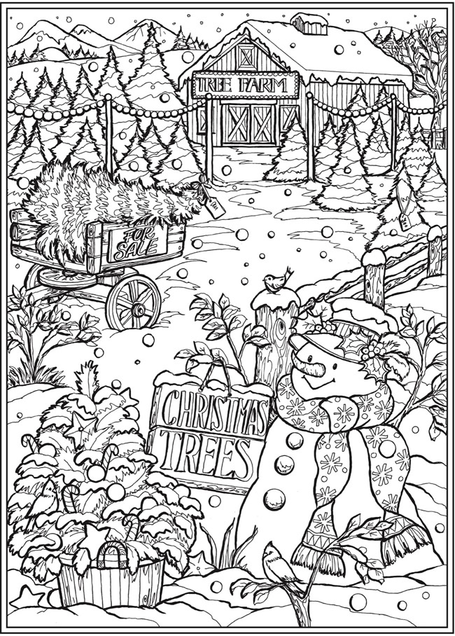 Welcome To Dover Publications Printable Christmas Coloring Pages Christmas Coloring Printables Christmas Coloring Sheets