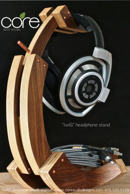 Headphone Stand Designs : Best diy headphone stand ideas wood diy headphone stand