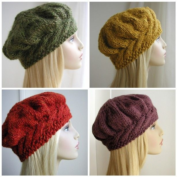 Hand Knitted Things: Weekend Cable Beret