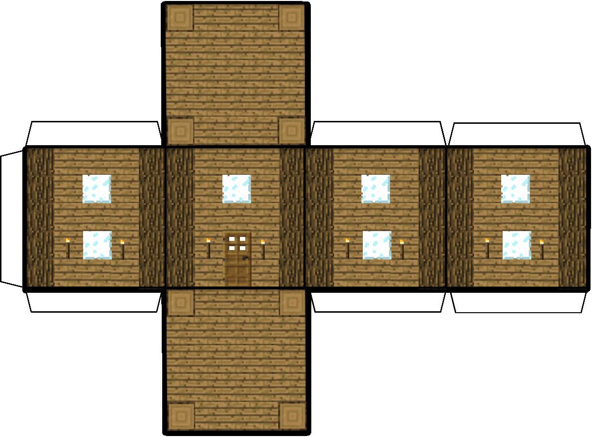 Papercraft Minecraft House 手作りマインクラフト マインクラフト