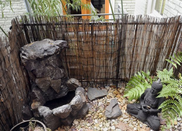 A rock garden is on a balcony in the dream home of Marianne Fishman, which is located in Butchers Hill.