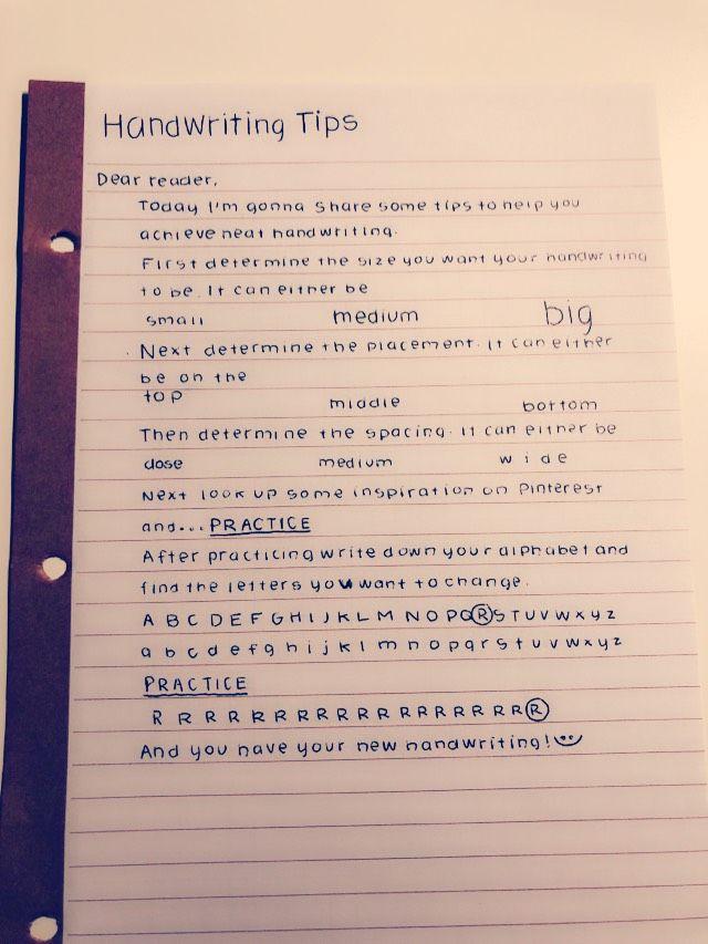 How to achieve neat handwriting! | Writing | Neat handwriting