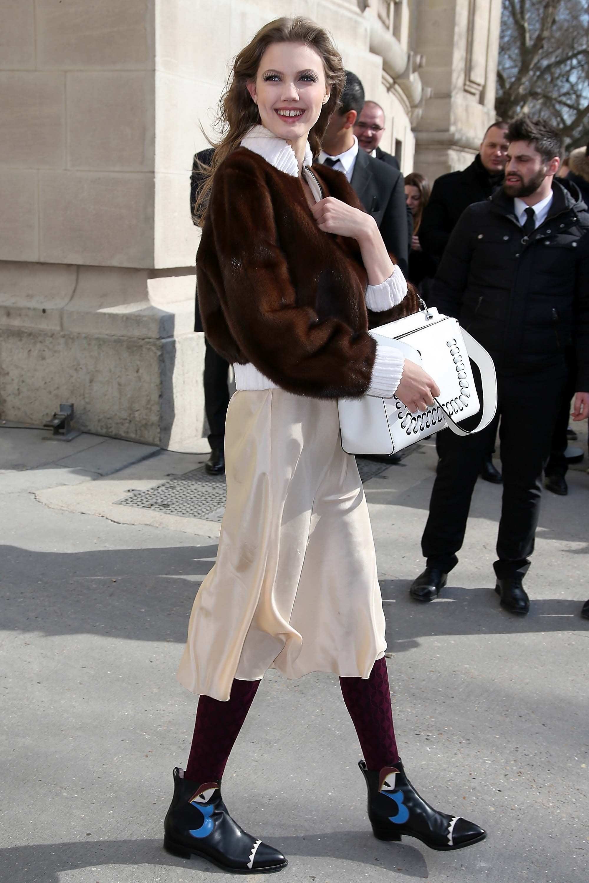 WHO: Lindsey Wixson WHAT: Fendi boots WHERE: On the street, Paris WHEN: March 8, 2016
