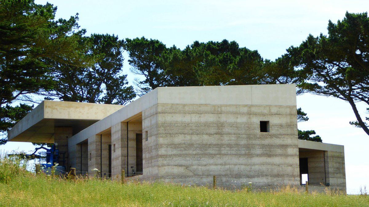 Rammed Concrete Walls And Roof Completed At Our Peterzumthor House