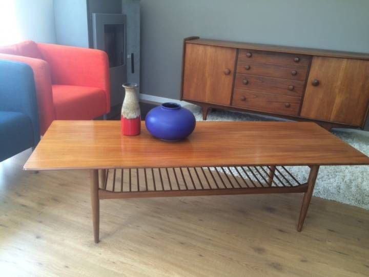 Table Basse Style Scandinave Vintage Annees 60 Table Basse