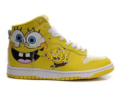 low priced 941e6 1bcac Spongebob Kids Nike Dunk Hi Shoes On Sale Nike Spongebob Nike Dunks Shoes  For sale ...