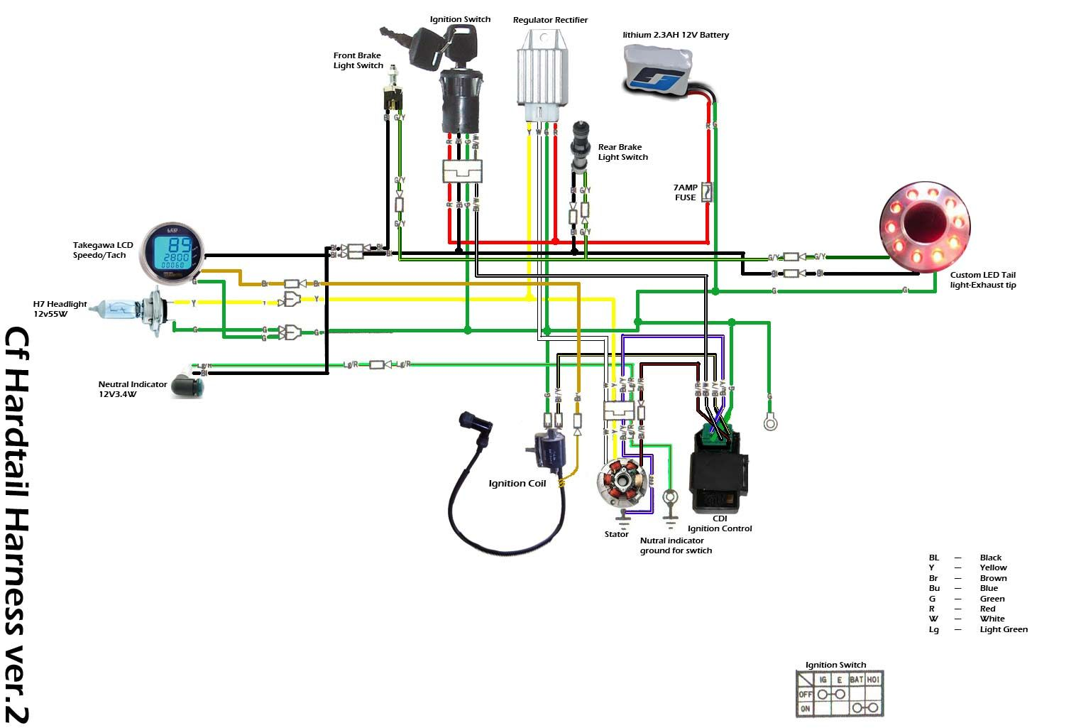 Lifan 110 Wiring Diagram 3 Honda Motorcycles Pinterest Atv Led