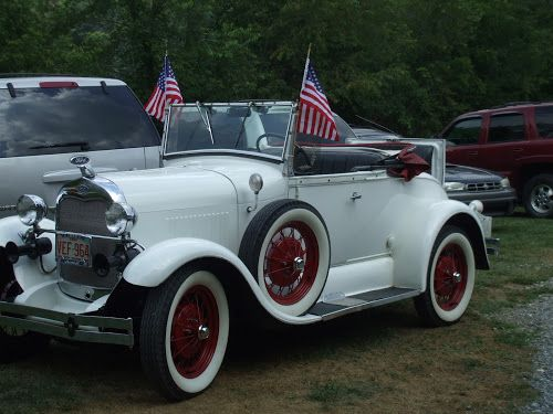 Classy car with flags by Vera Kirby Smith - Public Holidays July 4th (  ) I took this at a 4th of July picnic!
