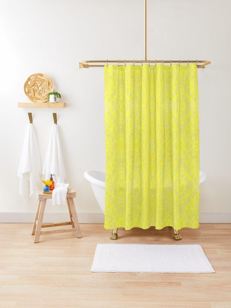 Radiant Yellow Sunshine Shower Curtain By Roanemermaid
