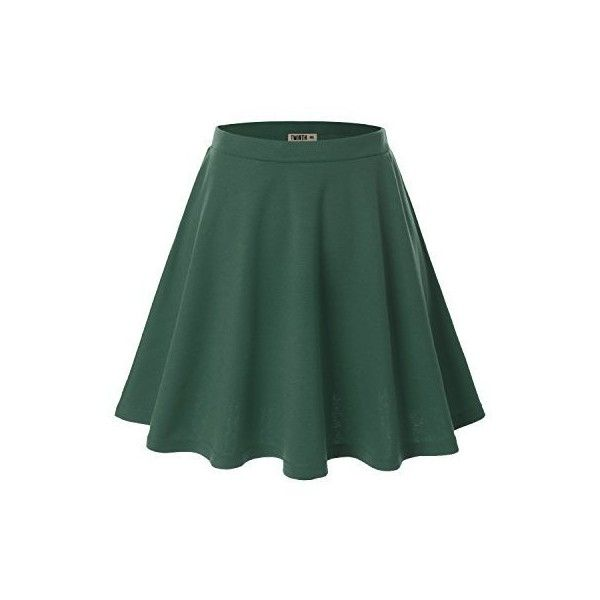 Doublju Women Plus-size Versatile Strechy Flared Skater Skirt ($9.98) ❤ liked on Polyvore featuring skirts, skater skirt, flared hem skirt, plus size skater skirt, plus size skirts and flared skirt