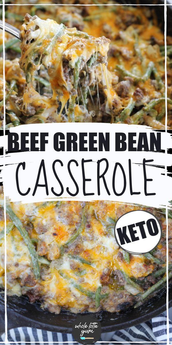 Hamburger Green Bean Casserole With Mushrooms Recipe In 2020 Beef Casserole Recipes Ground Beef Casserole Recipes Keto Recipes Dinner