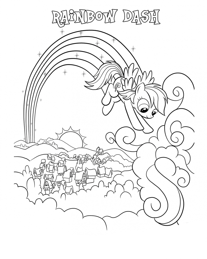 Rainbow Dash Coloring Pages My Little Pony Coloring Coloring